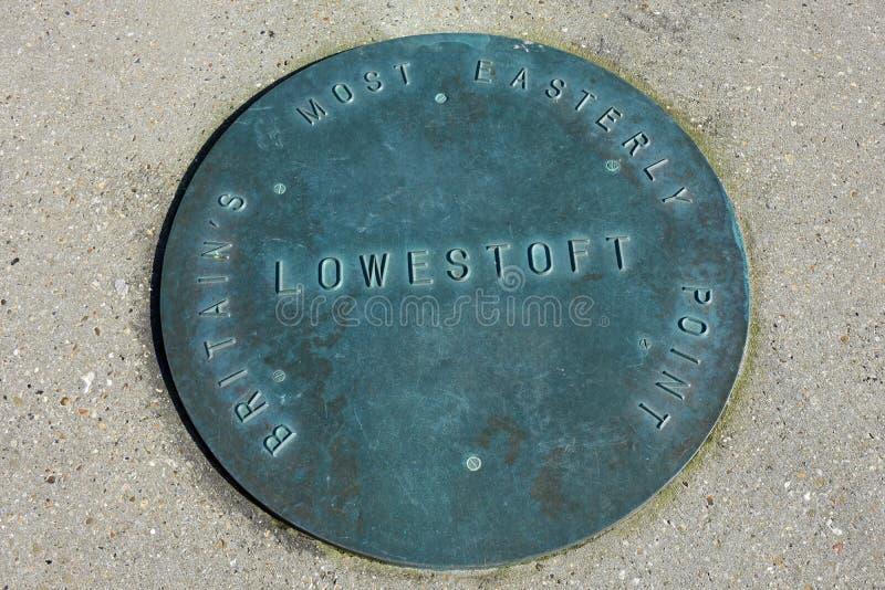 Пункт мыса, Lowestoft, суффольк, Англия, Великобритания стоковое фото rf