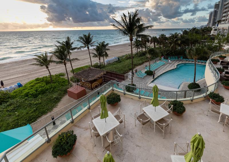 Пункт океана курортного отеля DoubleTree, северное Miami Beach стоковое изображение rf