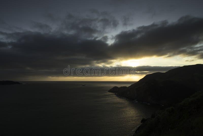 Пункт Bonita на заходе солнца стоковое фото rf