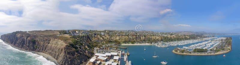 пункт dana california Панорамный вид с воздуха стоковая фотография rf
