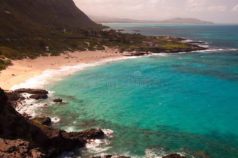 Пункт Makapu'u, остров Оаху, Гаваи стоковое фото