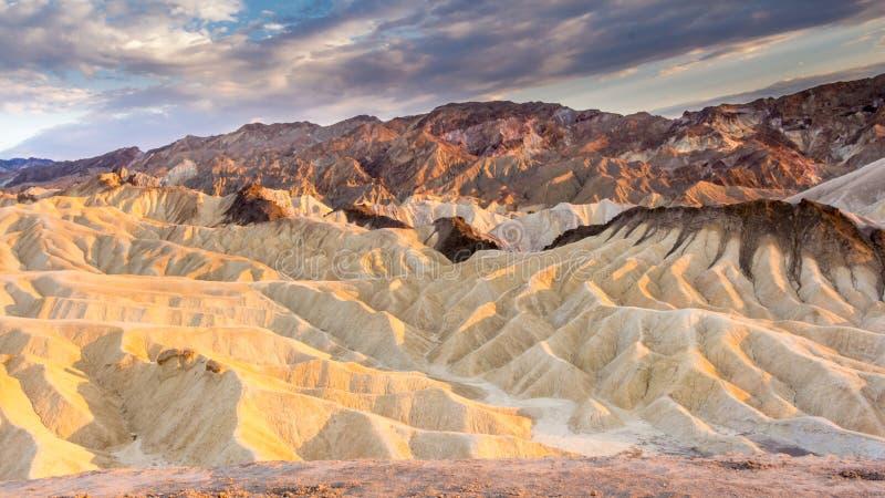 Пункт Zabriskie в национальном парке США Death Valley стоковое фото rf