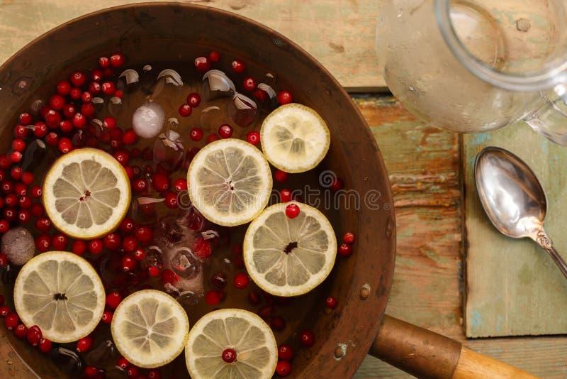 Пунш лимона клюквы стоковые изображения rf