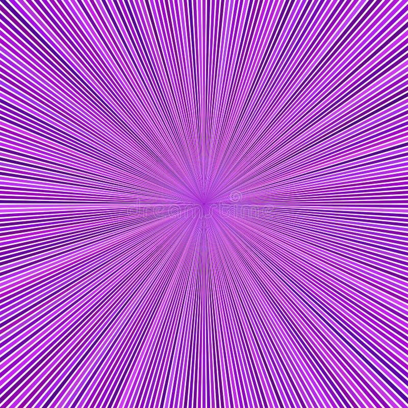 Пурпурная абстрактная гипнотическая предпосылка starburst от striped лучей иллюстрация вектора