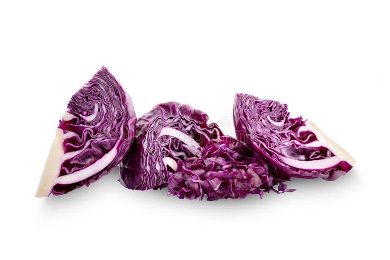 Пурпурная капуста изолированная на белой предпосылке стоковое фото