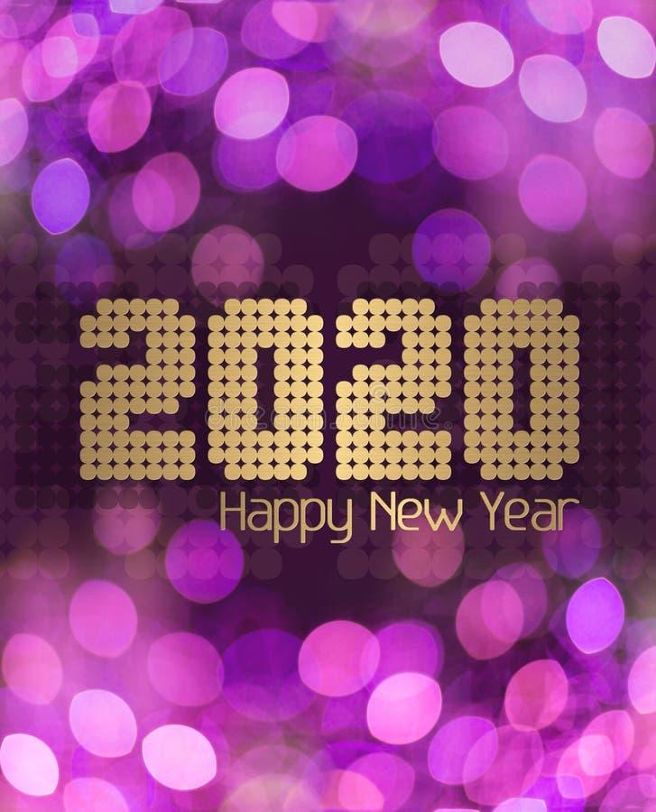 Пурпурная клитория С Новым Годом 2020 стоковые фотографии rf