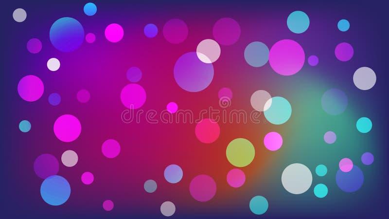 Пурпурная предпосылка вектора с кругами Иллюстрация с набором светить красочной ступенчатости Картина для буклетов, листовок иллюстрация вектора