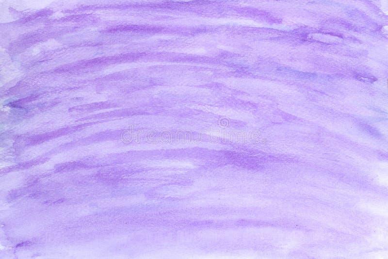 Пурпурная предпосылка текстуры акварели, Brushed покрасила абстрактные иллюстрацию предпосылки акварели, дизайн и знамя украшения иллюстрация штока