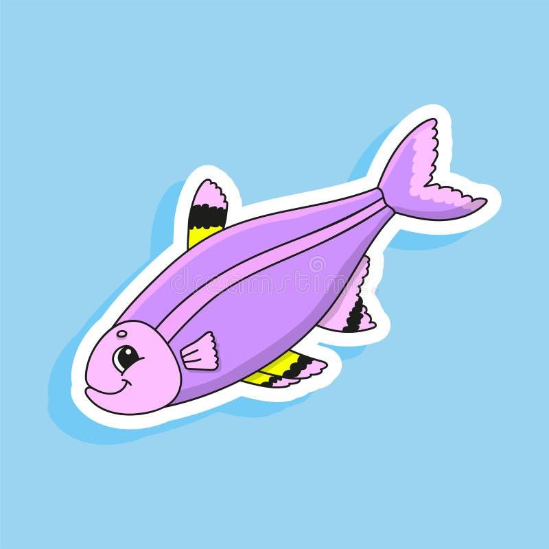 Пурпурные рыбы : m r r r E иллюстрация штока