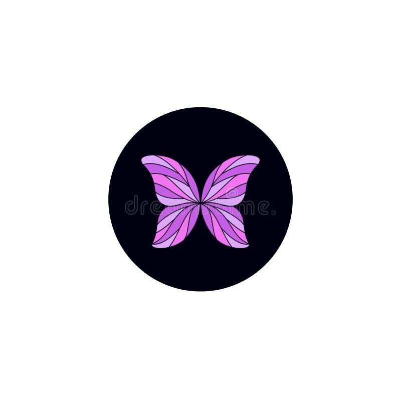 Пурпурный дизайн логотипа бабочки бесплатная иллюстрация