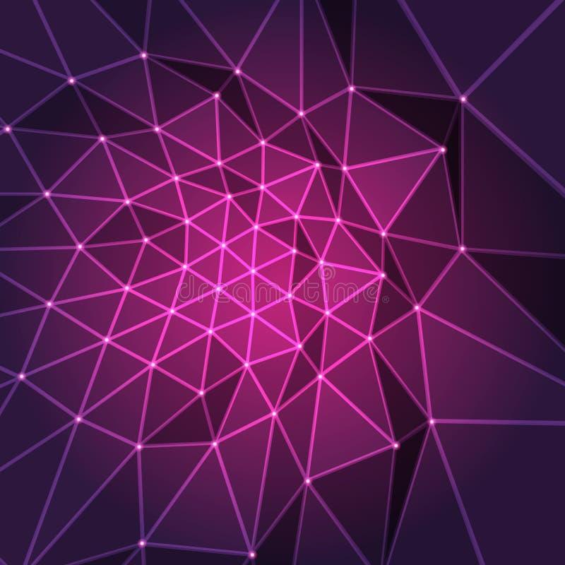 Пурпуровая конструкция фрактали бесплатная иллюстрация