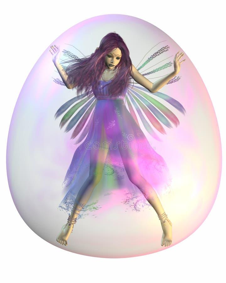 Пурпуровая фе в пузыре иллюстрация штока