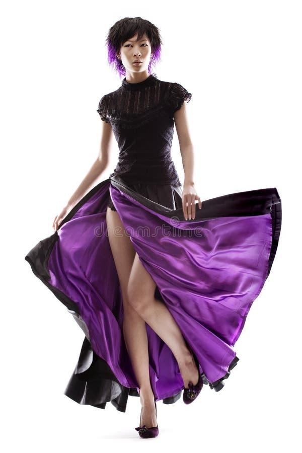пурпуровая юбка стоковая фотография rf