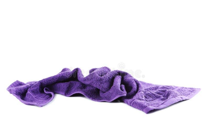 пурпуровое полотенце стоковая фотография rf