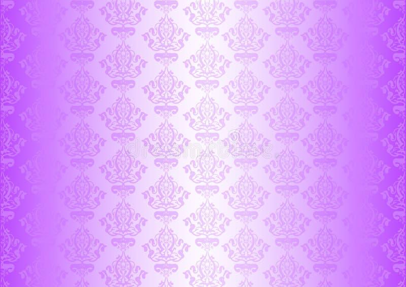 Пурпуровые обои с орнаментами бесплатная иллюстрация