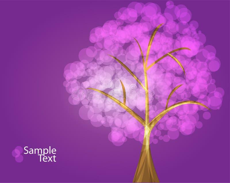 пурпуровый вал иллюстрация вектора