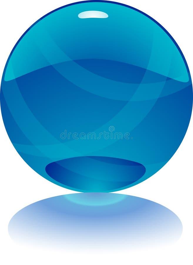 пурпуровый вектор сферы 3d иллюстрация вектора