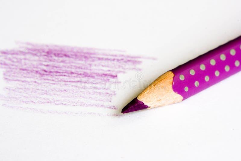 Пурпуровый карандаш стоковая фотография rf