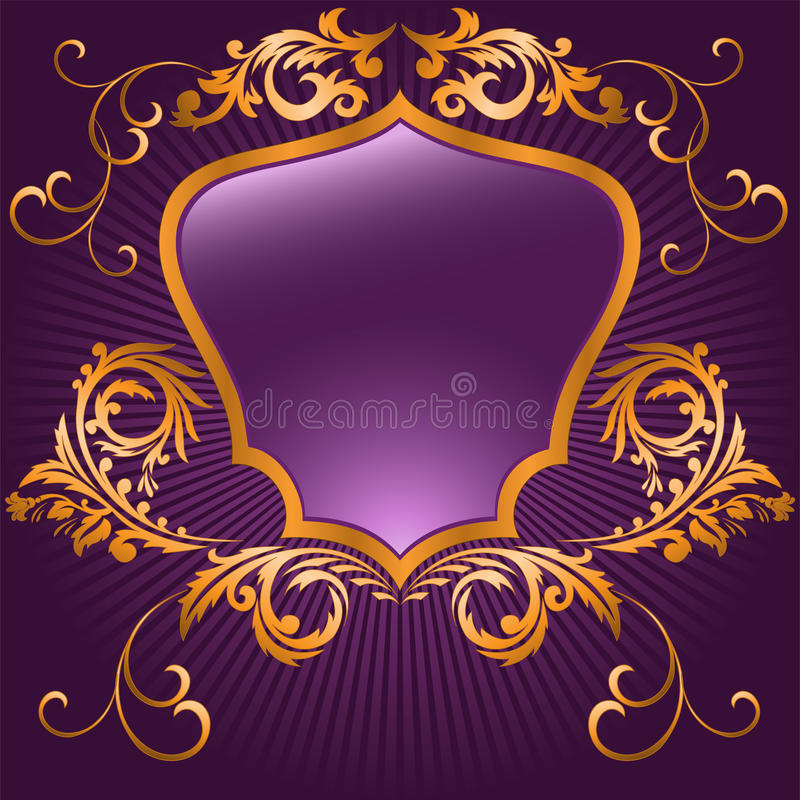 пурпуровый форменный экран иллюстрация вектора