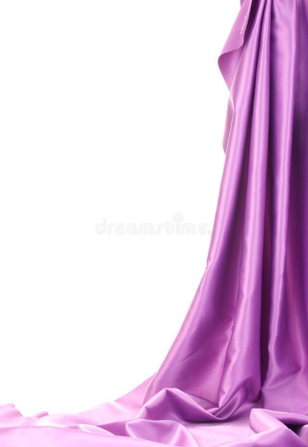 Пурпуровый шелк задрапировывает стоковая фотография rf