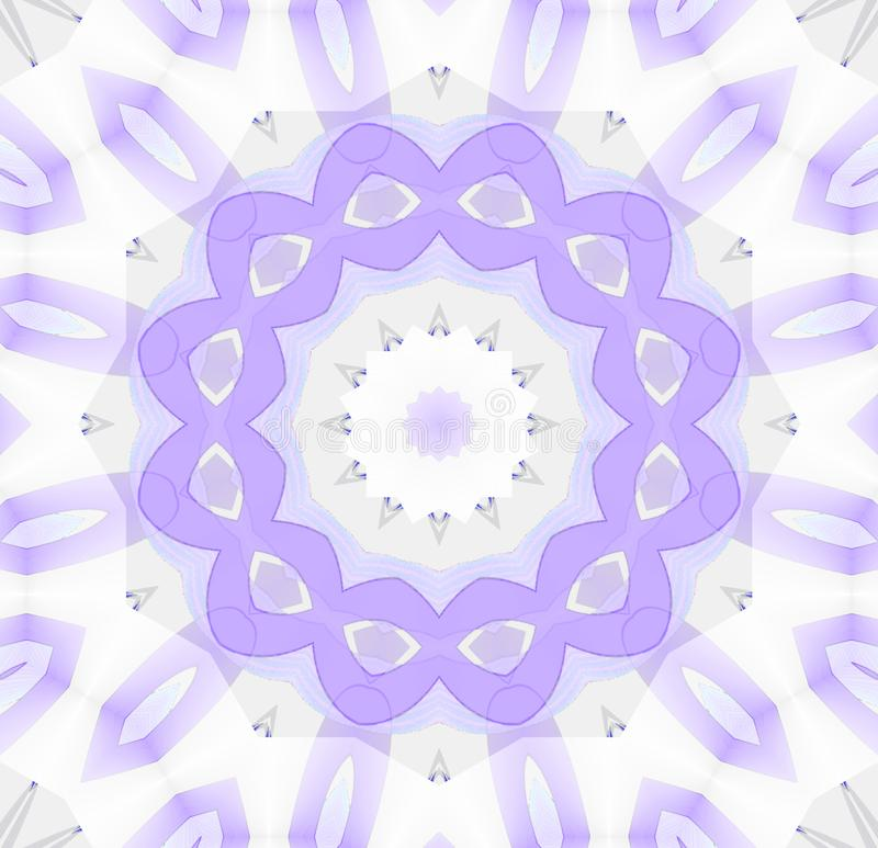 Пурпур безшовного орнамента концентрического круга белый серый бесплатная иллюстрация
