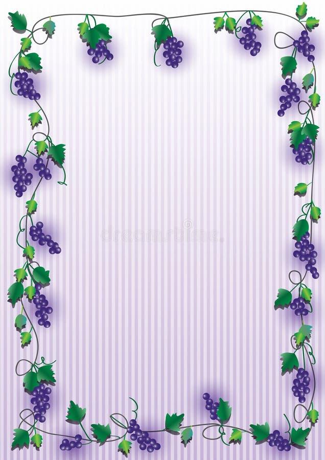 пурпур виноградины рамки eps иллюстрация вектора