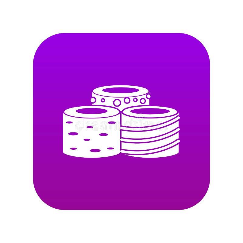 Пурпур вкусного значка турецкого наслаждения цифровой иллюстрация вектора