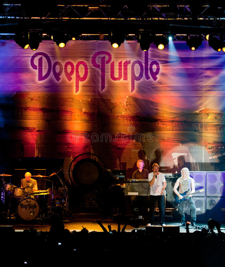 пурпур глубоко в реальном маштабе времени Кипра стоковая фотография rf