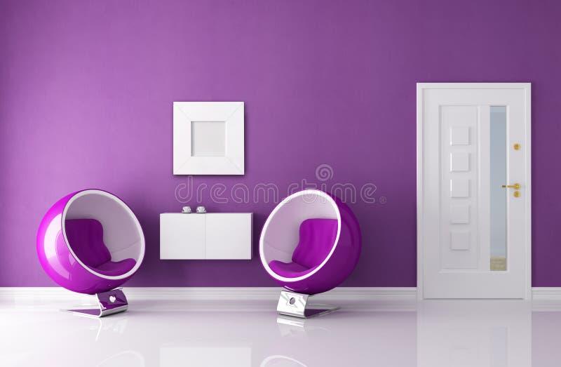 пурпур дома фойе входа иллюстрация вектора