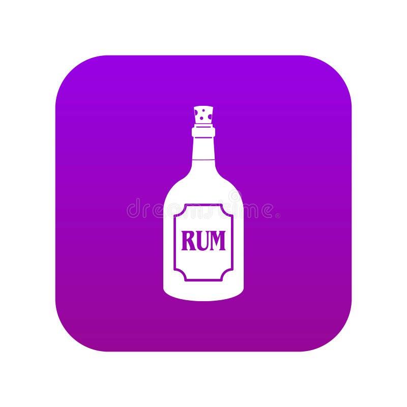 Пурпур значка рома цифровой иллюстрация вектора