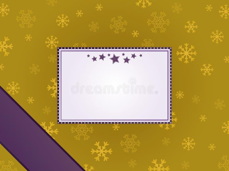 пурпур золота рамки рождества иллюстрация штока