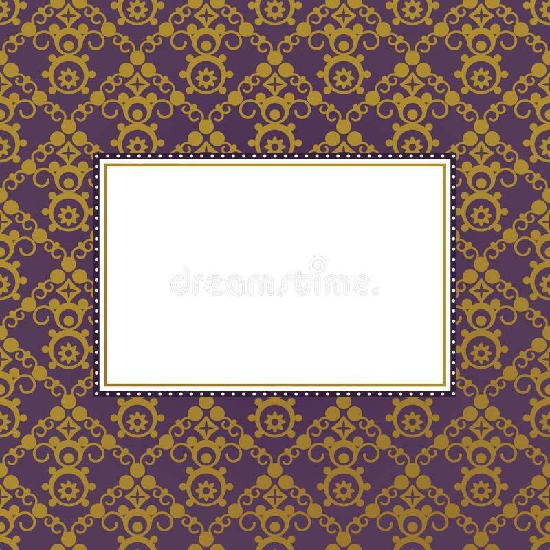 пурпур золота рамки иллюстрация вектора