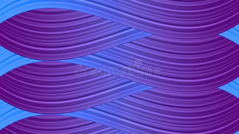 Пурпур и голубые волнистые кривые текстурируют абстрактную предпосылку стоковая фотография rf