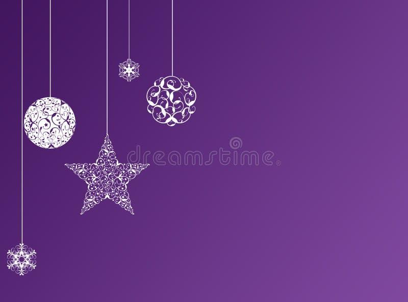 пурпур рождества предпосылки иллюстрация вектора