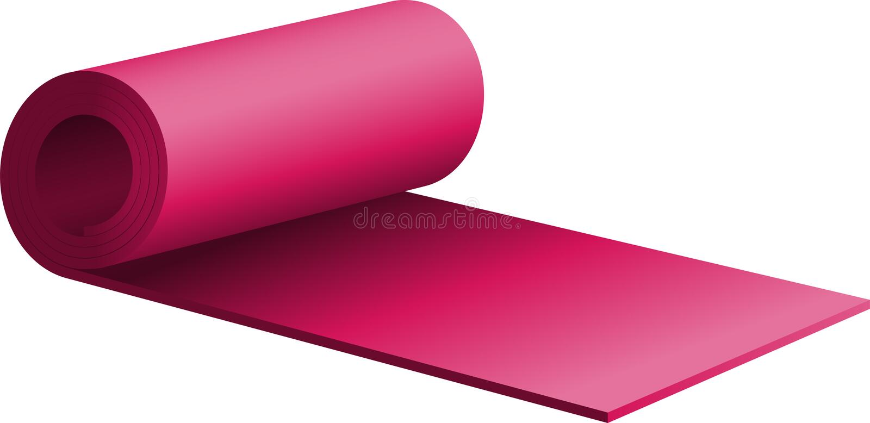 пурпур циновки тренировки половинный свернутый вверх бесплатная иллюстрация