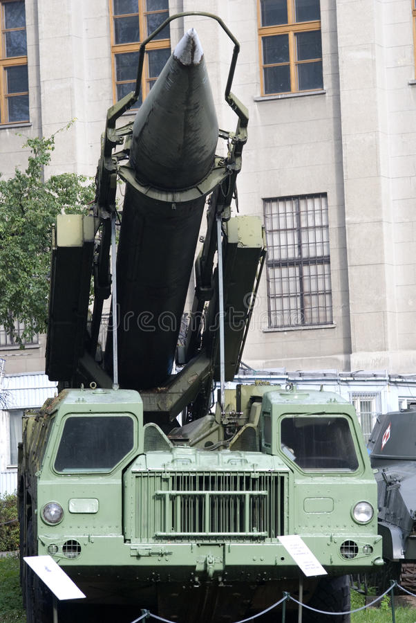 пусковая установка реактивного снаряда 9K72 Elbrus, Warszawa, Польша стоковое фото rf