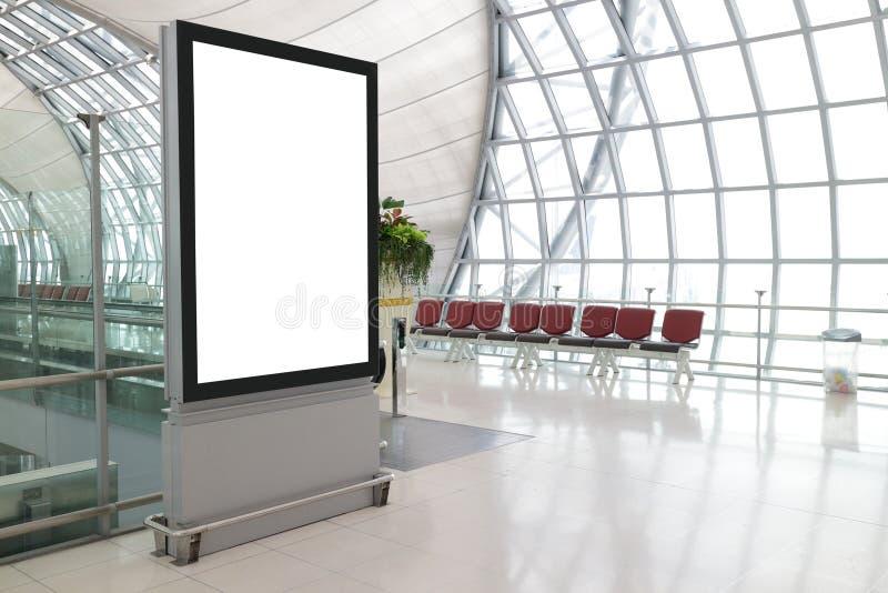 Пустая афиша в авиапорте стоковое изображение
