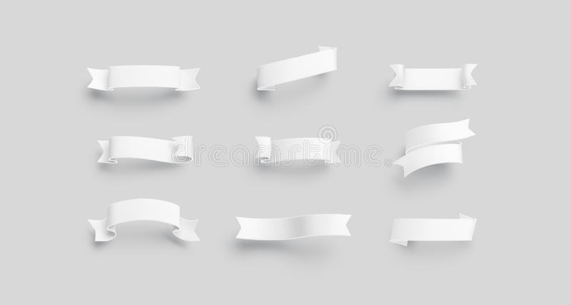 Пустая белая насмешка бандероли вверх по изолированному набору, иллюстрация штока