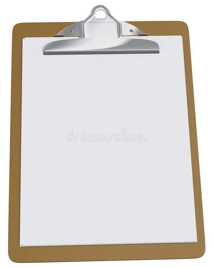 пустая белизна бумаги clipboard иллюстрация штока