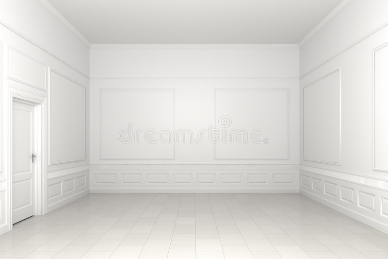 пустая белизна комнаты иллюстрация вектора