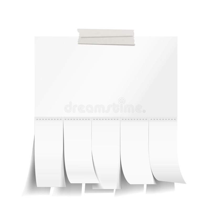Пустая белая бумага с выскальзываниями отрезка бесплатная иллюстрация