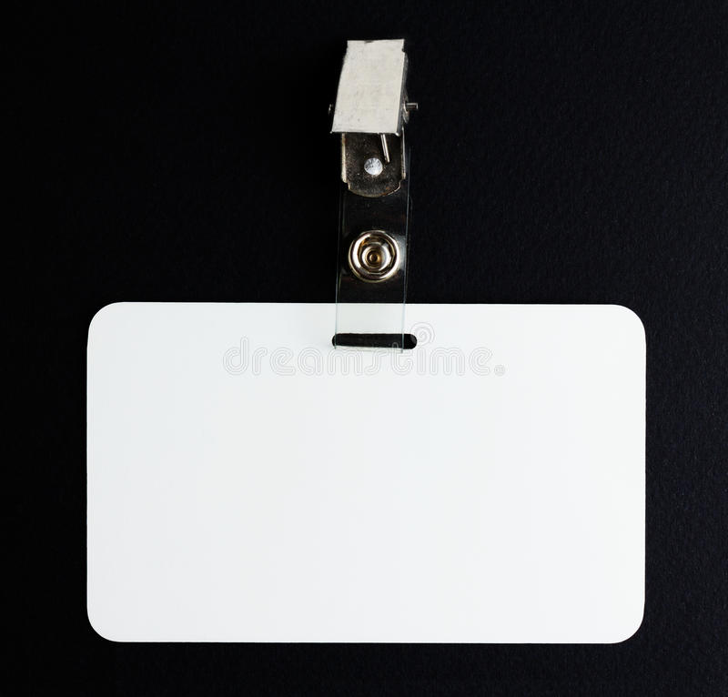 Пустая белая карточка id стоковое изображение