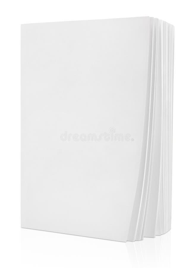 Пустая белая книга на белизне стоковое изображение