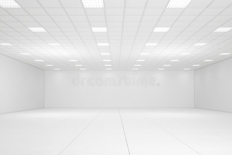 Пустая белая комната иллюстрация штока