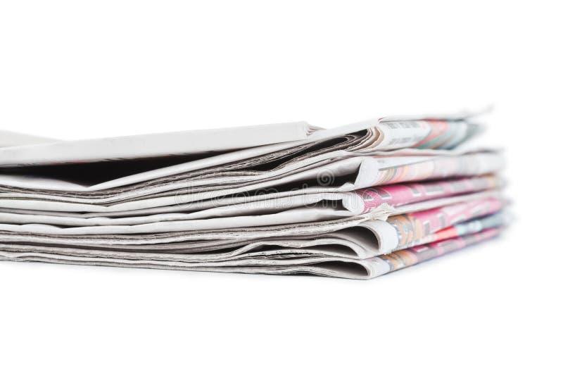 пустая белизна бумажного стога газет верхняя стоковые изображения