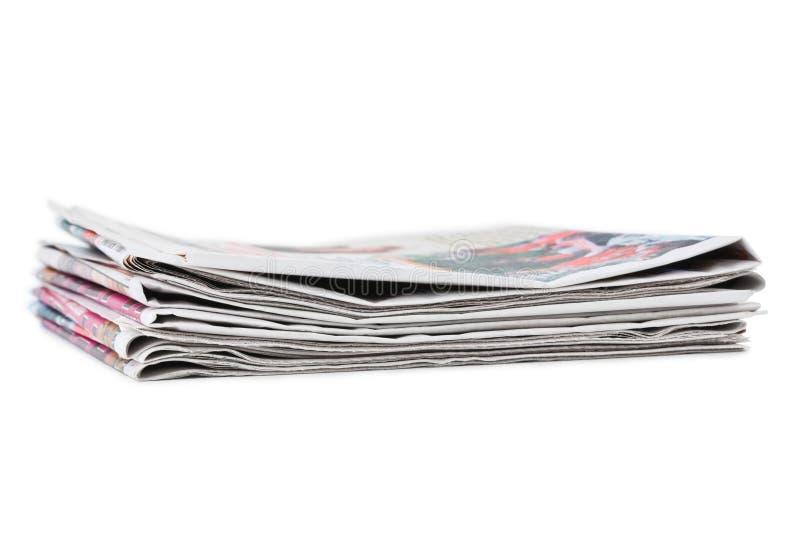 пустая белизна бумажного стога газет верхняя стоковая фотография