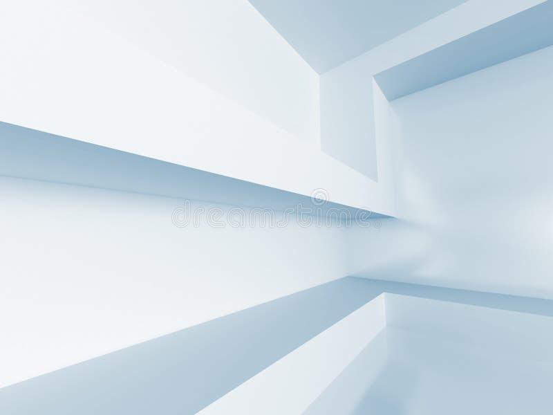 пустая белизна комнаты абстрактная предпосылка зодчества иллюстрация штока