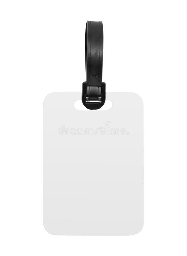 Пустая бирка багажа изолированная на белой предпосылке Вися бирка или ярлык для дизайна Путь клиппирования стоковая фотография