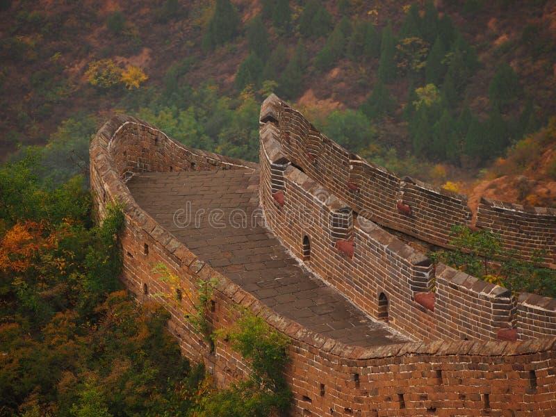 Пустая Великая Китайская Стена Китая стоковая фотография rf