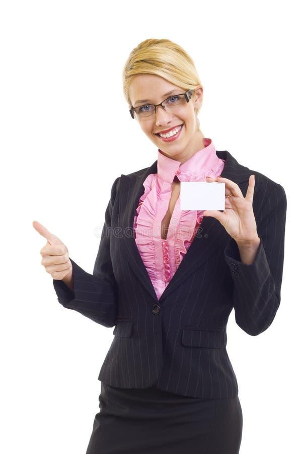 Пустая визитная карточка с О'КЕЙ стоковое фото